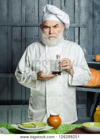 Man Cook Preparing Food