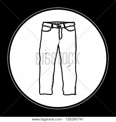 Simple Doodle Of A Pair Of Trousers