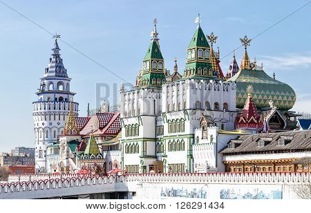 Moscow, Russia - April 17, 2016: Kremlin in Izmailovo district.