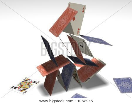 Card Pyramid Collapsing