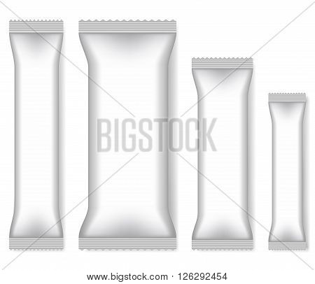 Blank template of packing stick. Vector illustration