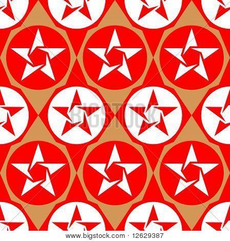 Modern Seamless Diamond Pattern With Stars
