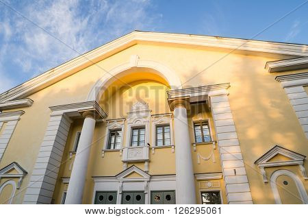 House of Culture in Sillamae. The architecture of the Stalin era
