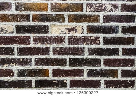 Closed-up shot of an old brick wall - texture for art projects