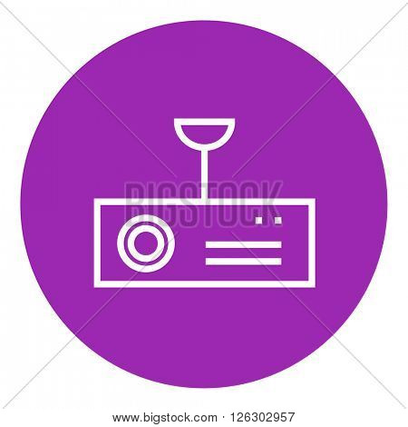 Digital projector line icon.