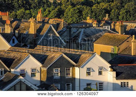 Old Houses in Totnes England United Kingdom