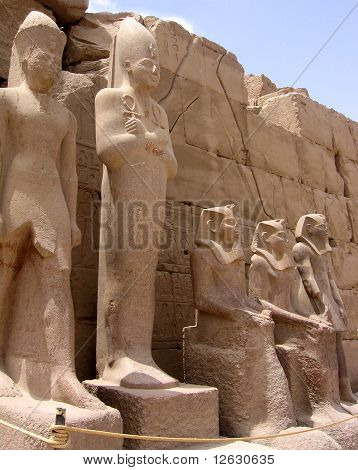 Sandstone statues in luxor.Egypt.