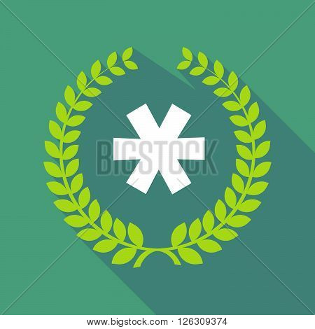 Long Shadow Laurel Wreath Icon With An Asterisk