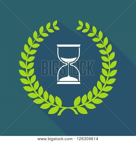 Long Shadow Laurel Wreath Icon With A Sand Clock