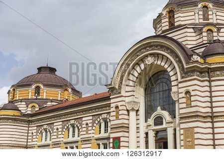 Central public mineral bath house in Sofia Bulgaria