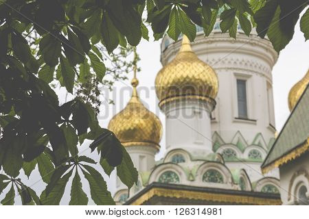 Beautiful View Of Colorful Russian St. Nicholas Church In The Centre Of Sofia City, Capital Of Bulga