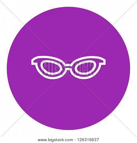 Eyeglasses line icon.