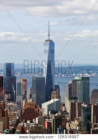 Freedom Tower In Manhattan, Nyc.