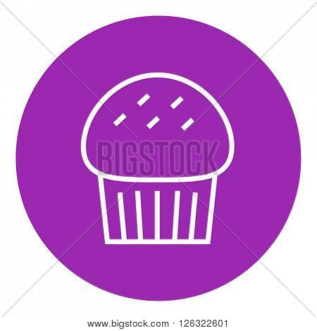 Cupcake line icon.