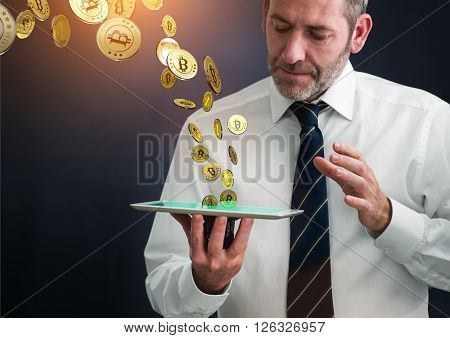 earning lots of virtual money with tablet PC - bit coin BTC the new virtual money