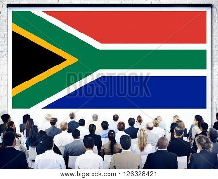 South Africa Flag Patriotism South African Pride Unity Concept