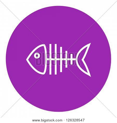 Fish skeleton line icon.