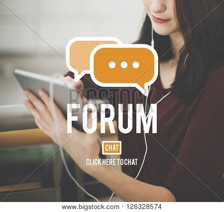 Forum Discussion Global Communications Conference Concept