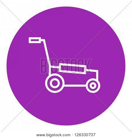 Lawnmover line icon.