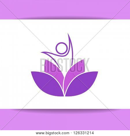 Yoga logo. Nirvana concept icon.  Vector illustration for yoga studio, event, school, club, web.