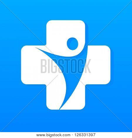 Medical center logo. Hospital logo. Medical identity. Template design. Vector illustration.