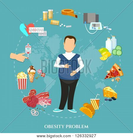 Obesity fat man causes and effects of obesity