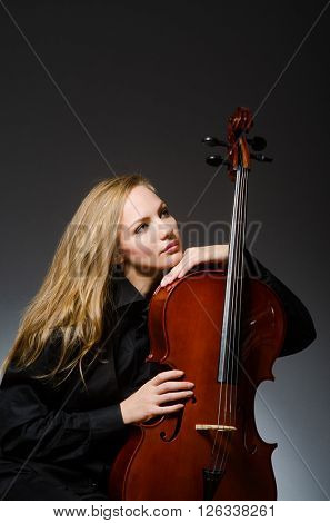 Young woman in musical concept