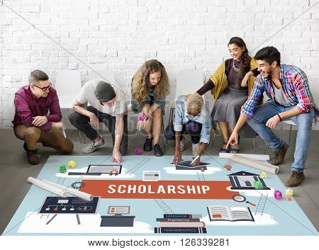 Scholarship Aid College Education Loan Money Concept