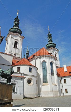 Prague. Strahov monastery. Spring.  site of pilgrimage