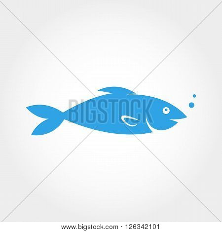 Fish Icon. Elements for design. Fish logo design vector background.
