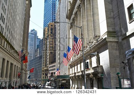NEW YORK CITY - MARCH 31: New York Stock Exchange building, March 31 2014 in New York, USA