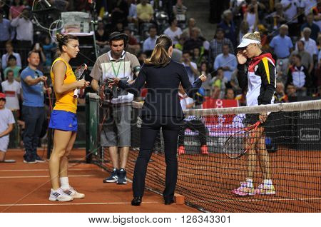 Tennis Players Simona Halep And Angelique Kerber