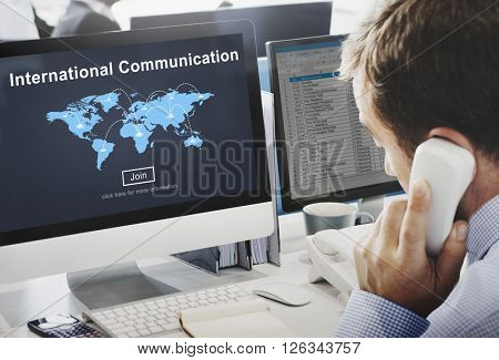 International Communication Global Communicate Concept