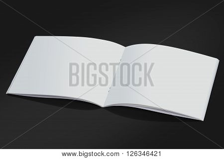 Open White Blank Brochure Magazine Cover for Mock up