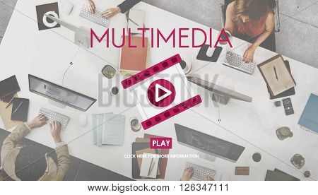 Multimedia Filmstrip Play Icon Media Concept