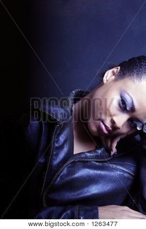 Dark And Dramatic, Teenage Black Girl Looking Sexy