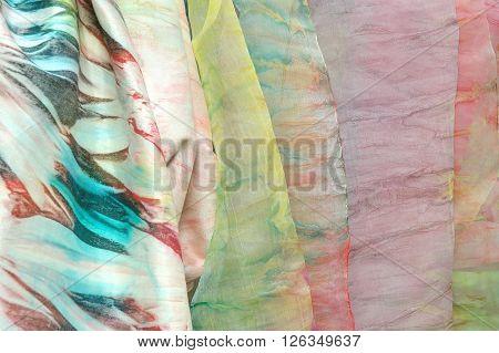 Silk fabrics hand made and hand dye silk