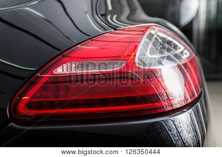 Car detailing series : Clean sports car taillights