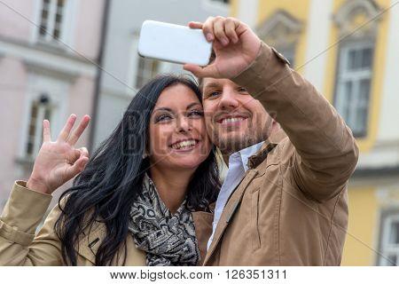 selfie a couple