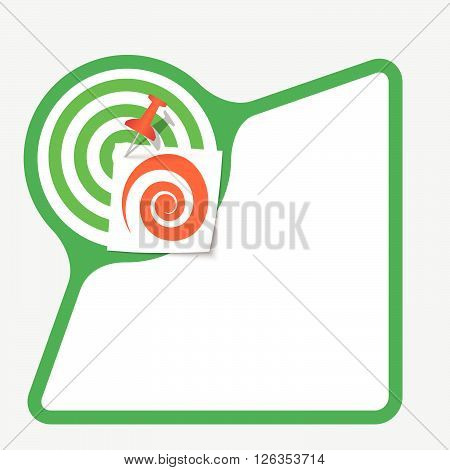 Abstract frame with paper and red spiral