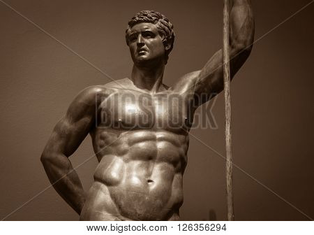 Human perfect body  Ancient male statue