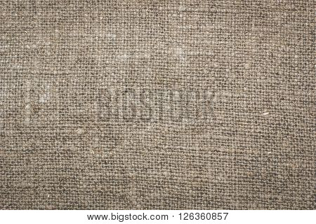 a fragment of linen, burlap texture, background