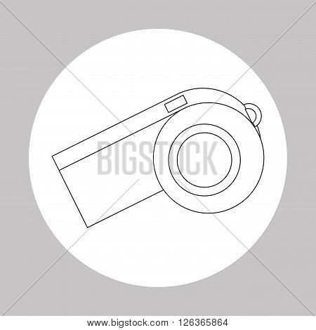 whistle concept with icon design, vector illustration 10 eps graphic.