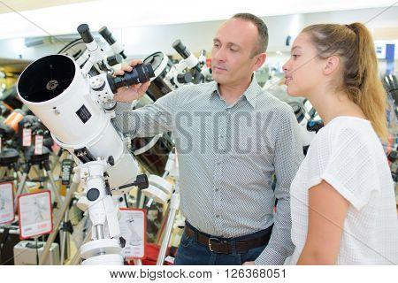 investigating the telescope