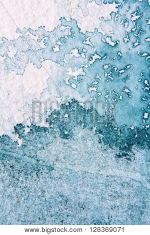 Super Macro Blue Watercolor Textures 14