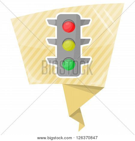 A vector illustration of a traffic signal