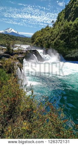 daylight photography waterfall landscape with blue sky