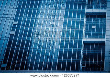 building appearance, blue toned image.