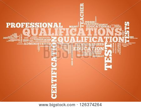Image Photo Word Cloud with Qualifications related tags