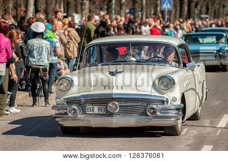 NORRKOPING, SWEDEN - MAY 1: Buick Special 1956 at the classic car parade celebrates spring on May 1, 2013 in Norrkoping. This parade started in 1974 and has become an annual tradition in Norrkoping on May 1.